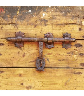Latch wrought iron craftsman - 3 media - 30 x 15 cm