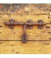 Pestillo de Forja Artesano - 3 Soportes - 30 x 15 cm