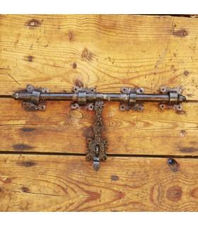 Fermo in ferro battuto artigiano - grande - 40 x 20 cm
