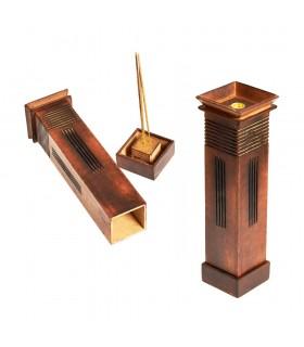 Grande tour japonaise - bois - 29 cm - brûleur d'encens de qualité