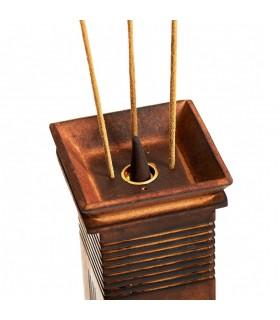 Torre japonesa grande - madeira - 29 cm - queimador de incenso de qualidade