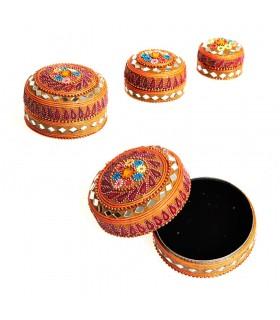 Spiel 3 Boxen helle glitter Floral-Velvet - Farben