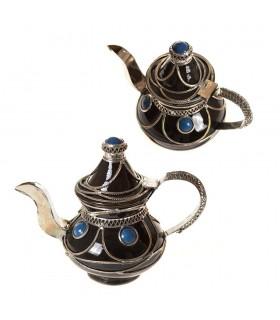 Dekorative Keramik Teekanne und Alpaca - verschiedene Farben - 16 cm