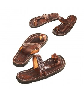 Sandália unissex couro - couro trançado - vários tamanhos - qualidade