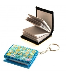 Keychain miniature brilliant book - you can use - 5 cm