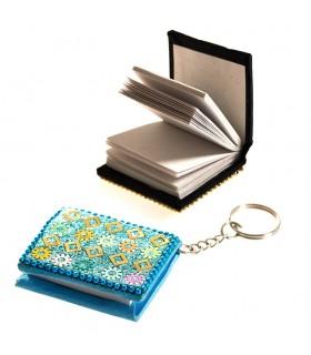 Portachiavi libro brillante in miniatura - è possibile utilizzare - 5cm