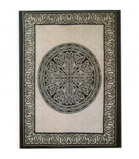 Tessuto di cotone India-Esfera geometrica - mano artigianale-120 x 220 cm