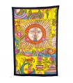 Fabric cotton India - Sun and landscape - artisan-240 x 210 cm