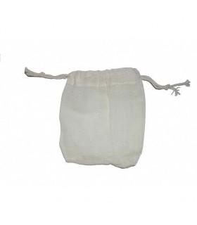 Bolsita Algodón  - Cierra Cuerda  - Ideal Nueces Lavado-10x9 cm