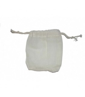 Cotton pouch - Closed string - Ideal nuts washed - 10 x 9 cm