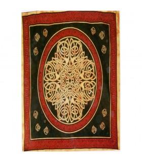 India Cotton Fabric-Geometric Cross-Artisan-140 x 210 cm