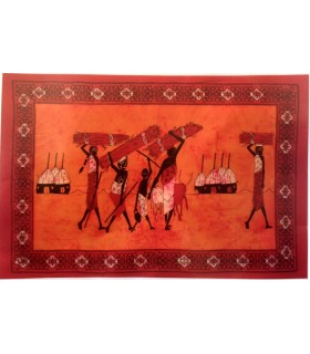 Fabric India-Tribu cotton Lenadores-artesana - 140 x 210 cm