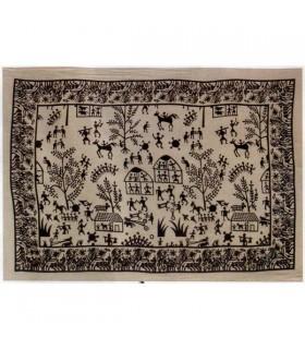 Índia-Tela Cotton- Vila aberta-Artisan-210 x 240 cm