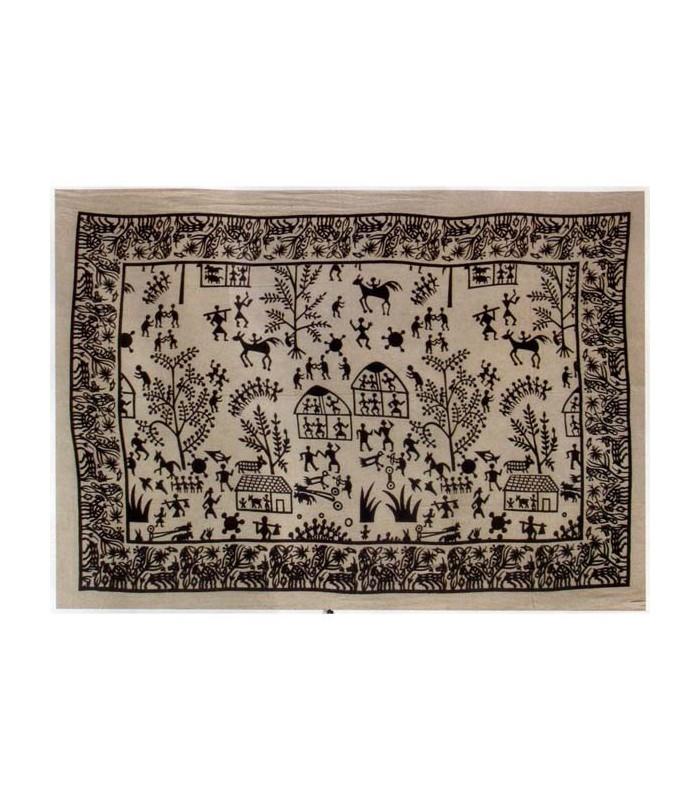 India-Cotton- Village open -Artisan-210 x 240 cm