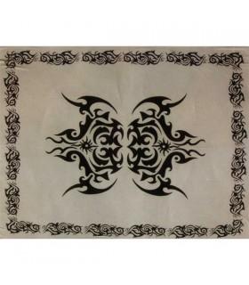 Tela Algodon-India- Tatuaje celtico-Artesana-210 x 240 cm