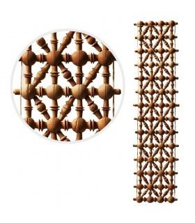 Treillis - Madera-diseno-arabe - 49 cm x 10 cm