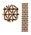 Celosía- Madera-Diseño- Árabe- 49 cm x 10 cm