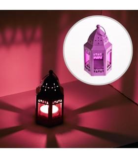 Laterne-achteckige-Moschee - mehrere Farben - 12 cm