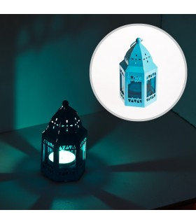 Lantern-octagonal-mosque - multiple colors - 12 cm