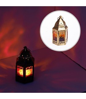 Farolillo- Octogonal- Mezquita- Envejecido-  11 cm