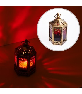 Lantern - octagonal-tent-aged-11 cm