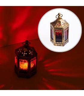 Lanterna - ottagonale-tenda-invecchiato-11 cm