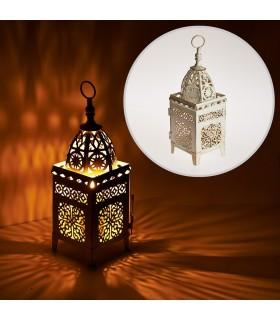 Lantern aged-rectangle-latticed openwork - 26 cm