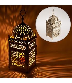 Lantern aged-rectangle-latticed openwork - 35 cm