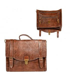 A mano pelle valigetta - 6 scomparti - stretta sicurezza