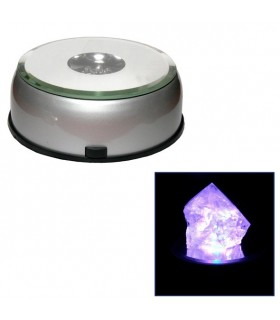 Base Multi Color Led - 8 cm diámetro - Giratoria - Exposición Productos