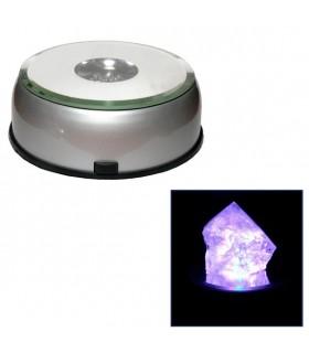 Base Multi couleur Led - 8 cm de diamètre - pivotant - exposition produits