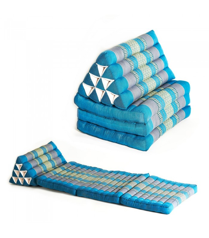 Triangular Thai with daybed or back - several pad options and colors - perfect tea shops