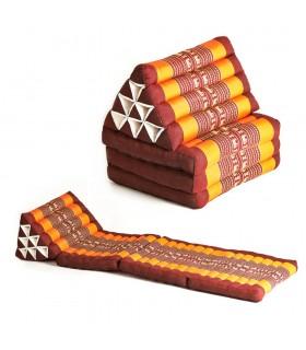 Thai triangulaire avec banquette-lit ou dos - plusieurs pad options et couleurs - salons de thé parfaite