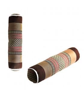Cojín Cilíndrico Tailandes - Borados Etnicos - Incluye Relleno - 60 cm