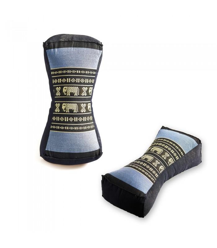 Cojín Ovalado Tailandes - Borados Etnicos - Incluye Relleno - 34 cm