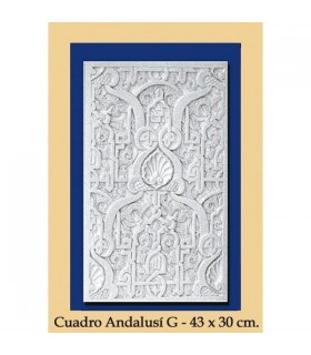 Al-Andalus - plaster - 43 x 30 cm box