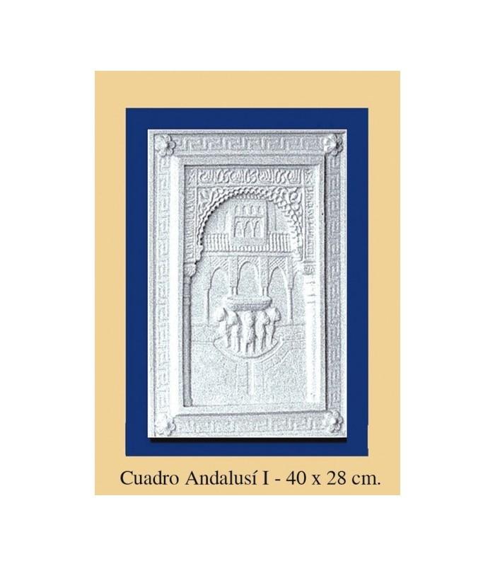 Cuadro andalusi escayola 40 x 28 cm publico - Cuadros de escayola ...