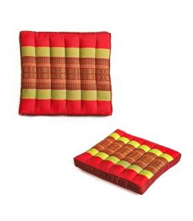 Подушка квадратных Таиланд - включает заполненные - 2 размера - идеальная йога