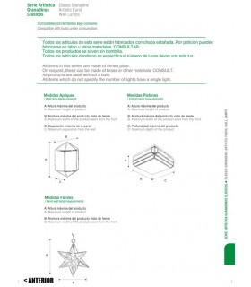 Antique Lantern model Alcaiceria - Granada Andalusian series – various finishes