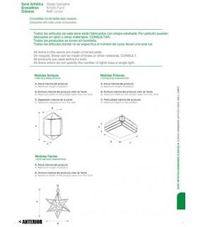 Farol Envejecido Modelo Alcaicería - Serie Andalusí Granadina - Varios Acabados