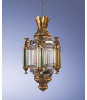 Антикварная фонарь модели возрождения Корона - Гранада андалузской серии – различные отделки
