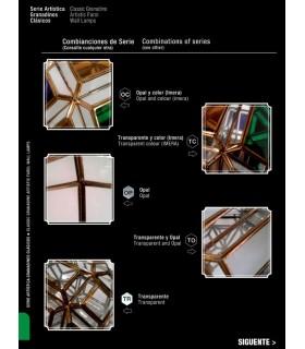 Farol Envejecido Modelo Renacimiento Corona - Serie Andalusí Granadina - Varios Acabados