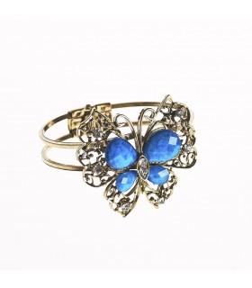 Bracelet - design Butterfly - décoré de pierres - différentes couleurs