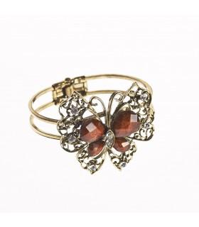 Браслет - дизайн бабочки - украшенные камнями - различные цвета