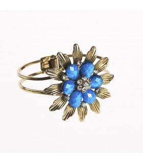 Bracelet - design flower - decorated stones - various colors