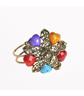 Bracelet - design star - decorated stones - various colors