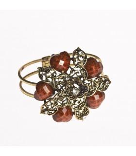 Bracelet - star design - décoré de pierres - différentes couleurs