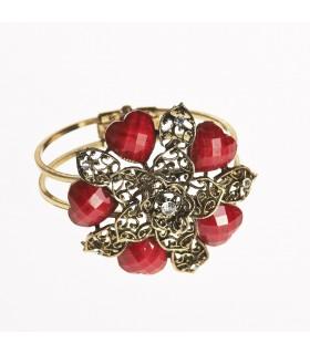 Bracelet - design star - decorated stones - various colors