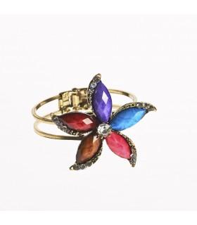 Brazalete- Diseño Flor De Loto -Decorado Piedras- Varios Colores