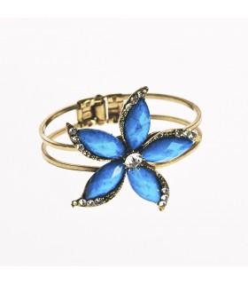Bracelet - design fleur de Lotus - décoré de pierres - différentes couleurs